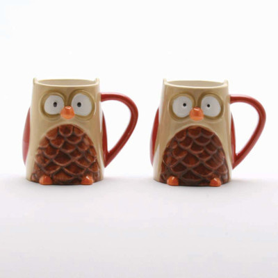 two owl mugs