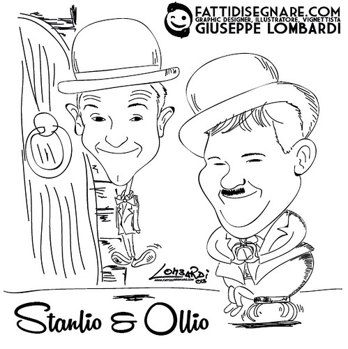 Stanlio & Ollio by Giuseppe Lombardi