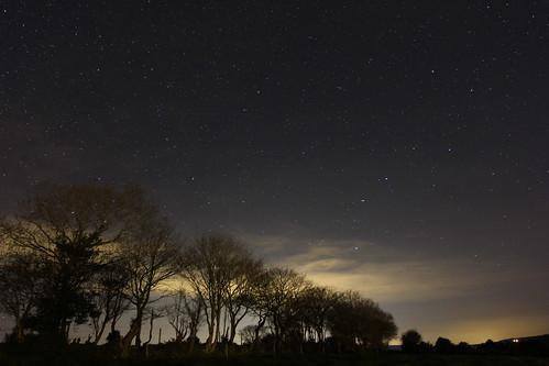 trees ireland sky landscape star frosty wicklow starry plough rathdrum ballygannon