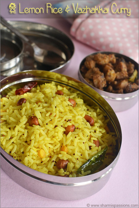 Lemon Rice & Vazhakkai Curry