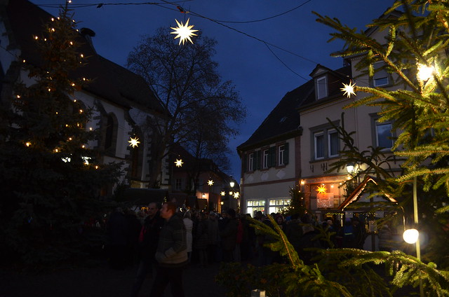 Weihnachtsmarkt Freinsheim at night