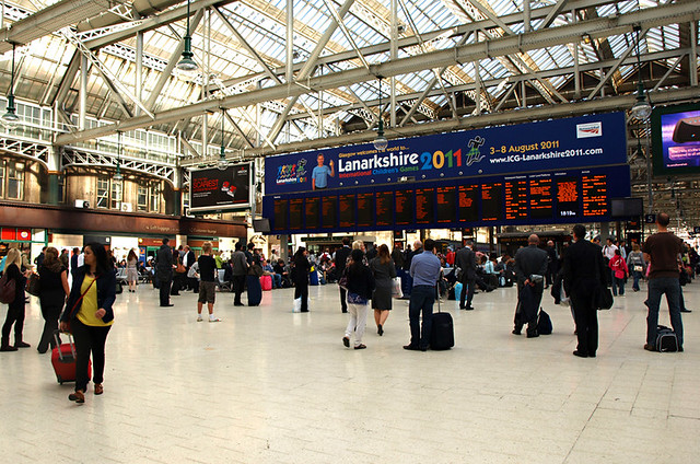 Travel, Glasgow central, Scotland
