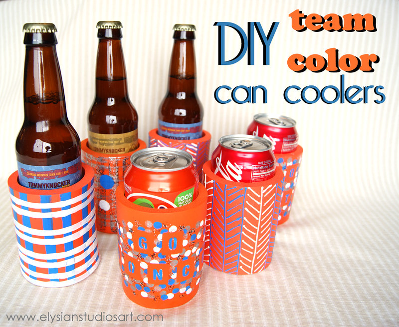 DIY Team Color Can Coolers