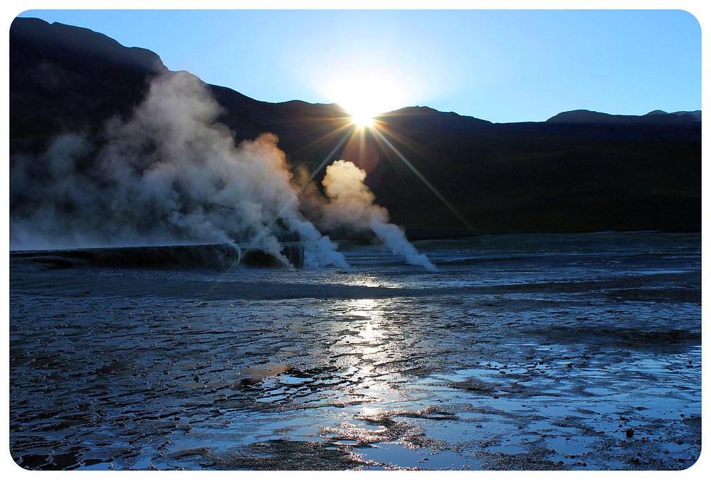 el tatio geyser atacama desert chile sunrise