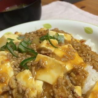 麻婆豆腐作ってみた。 #dinner 素使わなくてもこんなに簡単に作れたんだな…美味い。