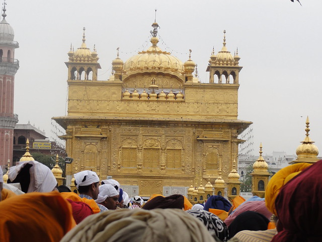 Waiting in a queue to enter Golden temple, Amritsar