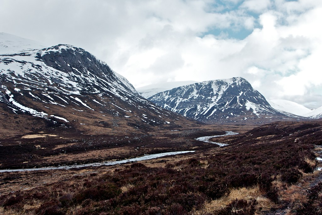 Beinn Bhrotain and River Dee
