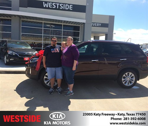 Thank you to Kristen  Frederick on your new 2015 #Kia #Sorento from Orlando Baez and everyone at Westside Kia! #NewCar by Westside KIA