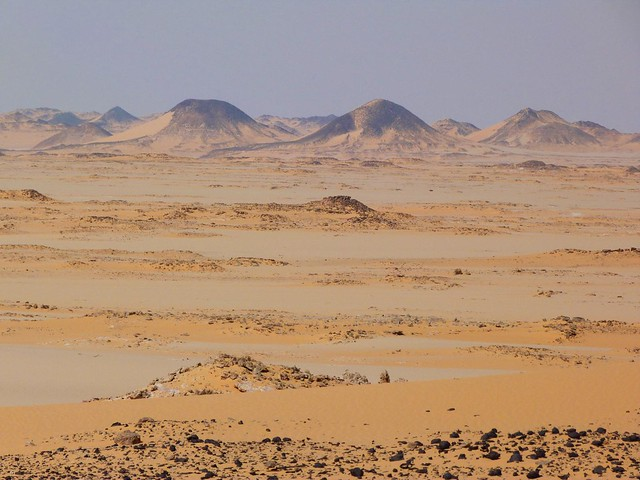 Paisaje del desierto Líbico (Egipto)