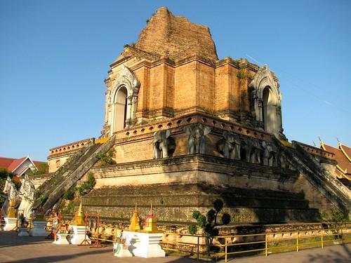 Chedi de 1441 al interior del Wat Chedi Luang