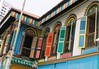 Colourful windows in Little India, Singapore by Khánh Hmoong
