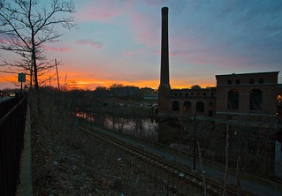 Sunset over the Chocolate Factory