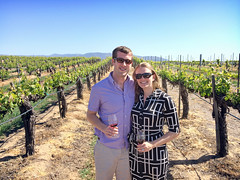 Matt and Annie at Ponte Vineyard