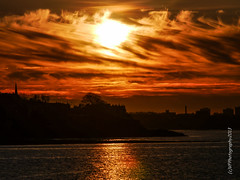 Musselburgh Harbour Sunset 18 April 2014...