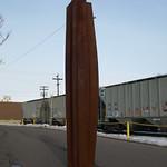 """Emmett Culligan - Bilge #5-a. Rusted mild steel, 108x18x18"""", 2012"""