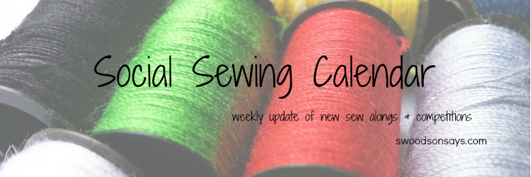 Social Sewing Calendar at SwoodsonSays.com