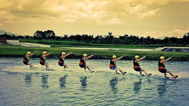 Wakeboarding Action shot taken with the Lumia 1520