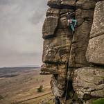 Jordan on Count's Crack, Stanage Edge, UK