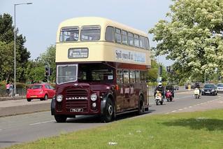 PBJ 2F. Lowestoft Corporation Massey bodied Leyland PD2/47, Heath Road, Ipswich, 4th. May 2014.