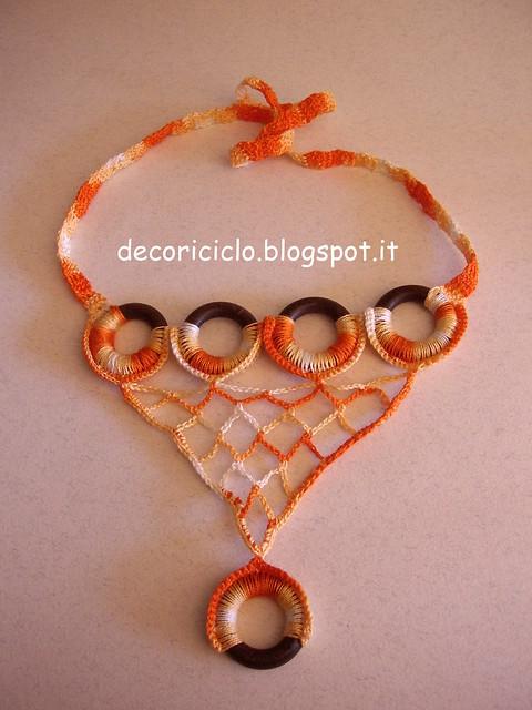 collana di cotone e anelli di legno delle tende 2
