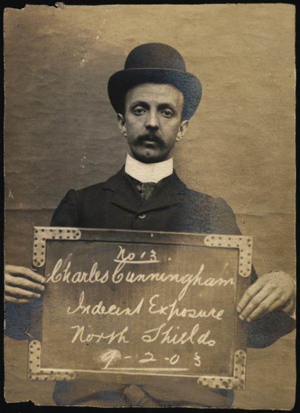 Charles Cunningham, arrested for indecent exposure
