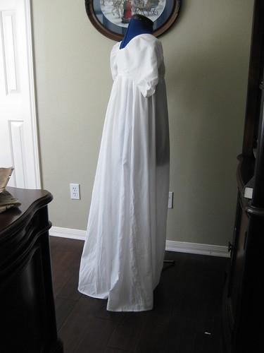 1800s Little White Dress - Back