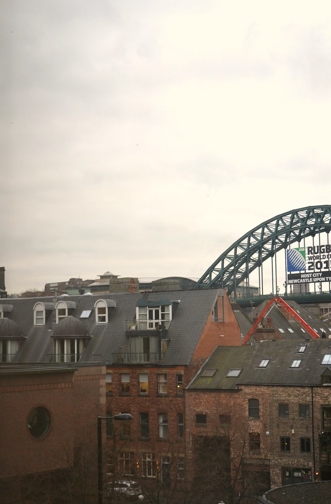 View from Travelodge Hotel in Newcastle