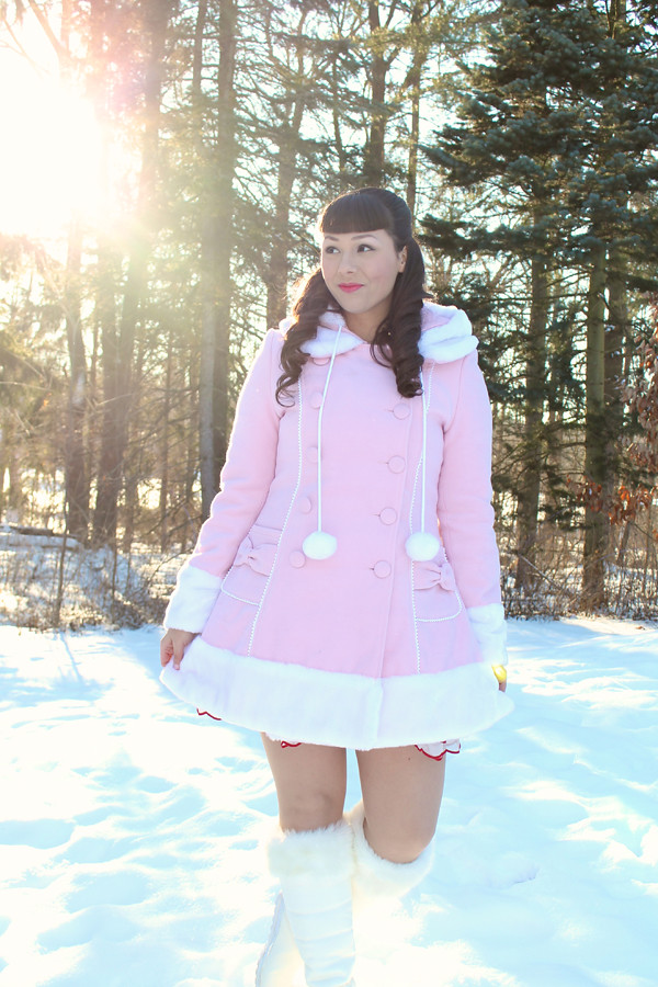 hell bunny pink coat