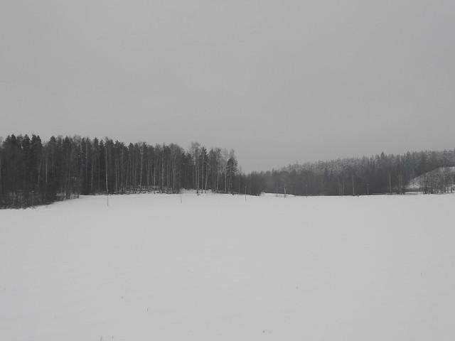 Lumimaisemaa Espoon Leppävaaran ja Karakallion välillä 4.2.2015