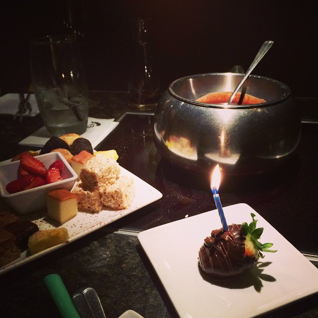 What a yummy birthday day dinner! I was so spoiled today!
