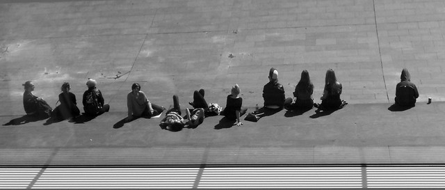 223) - silhouettes sunbathing