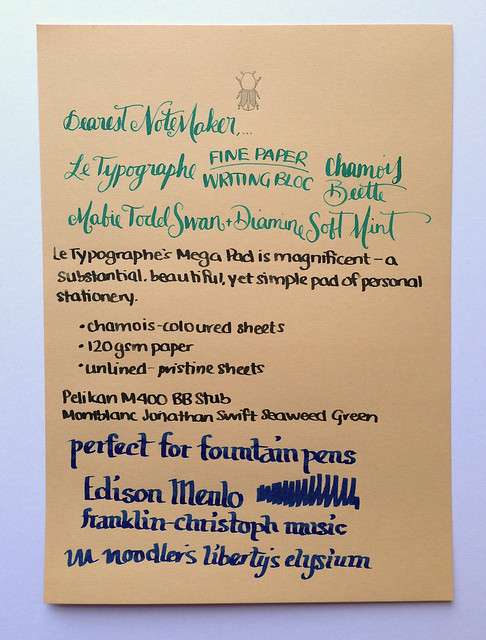 Review Le Typographe Fine Paper Writing Bloc - A5 Beetle Chamois @NoteMakerTweets (7)