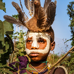 surma.body art. Omo valley. Ethiopia