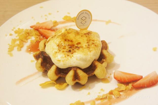 3.Madame Waffle's Salted Egg Yolk Waffle