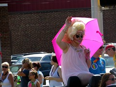 It's a hot day for a drag queen in INDY PRIDE.