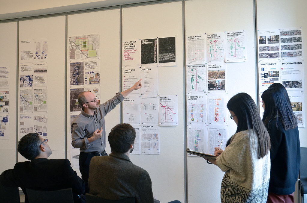CRP graduate Urban Design studio review with Adam Lubinsky at AAP NYC.
