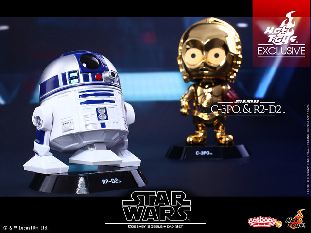 Hot Toys – COSB280 –【C-3PO & R2-D2 雙機組合包】STAR WARS:原力覺醒 Cosbaby Bobble-Head