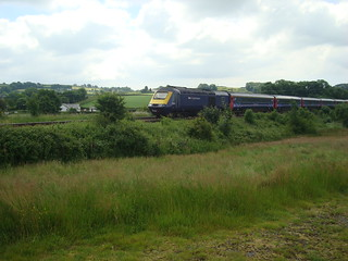 First Great Western Intercity 125 train in the Carmarthenshire countryside on the 'Pembroke Coast Express'