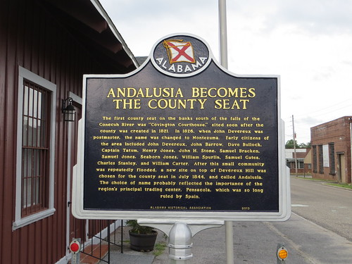 Andalusia Becomes the County Seat Marker Andalusia AL