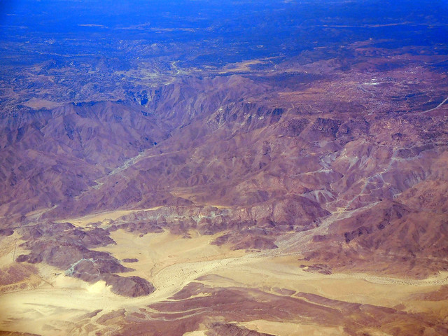Aerial view of Southern California near the Salton Sea