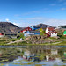 Sisimiut in Greenland on a beautiful summer day by Phil Wilco