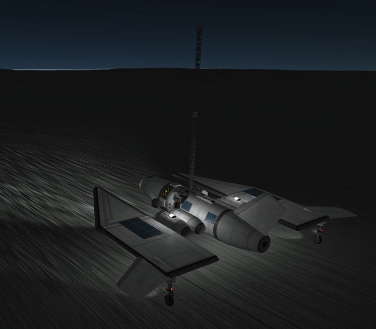 04-21 Serran Probe Plane Night Landing