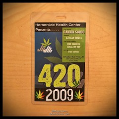 Harborside Health Center's 420 Party @ Oasis Nightclub in Oakland, CA! The first passes I ever designed. - 04/20/09 #tbt #throwback #throwbackthursday #musicsumo