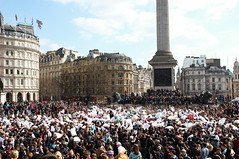 World Pillowfight Day, Trafalgar Square