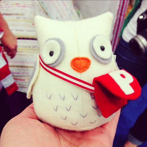 seriously cute softie at @jodiericrac's booth #quiltmarket