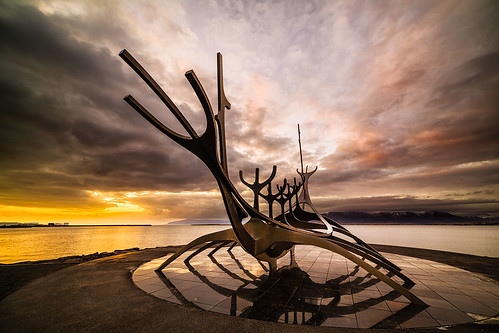 sunset sky sculpture seascape clouds spectacular iceland dramatic reykjavik cityscene samyang14mm