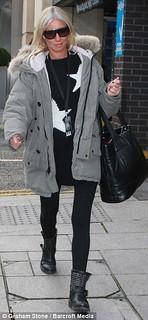 Denise Van Outen Studded Biker Boots Celebrity Style Women's Fashion