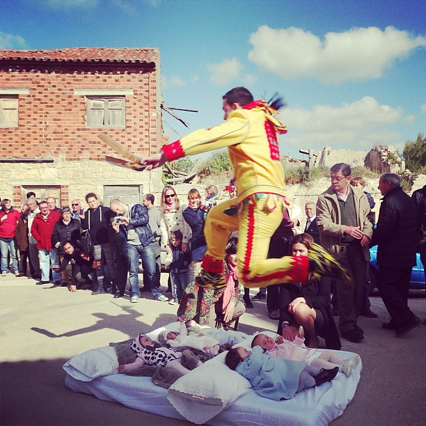 In Spain or insane? El Colacho, the medieval baby-jumping festival took place yesterday in a tiny village in Northern Spain