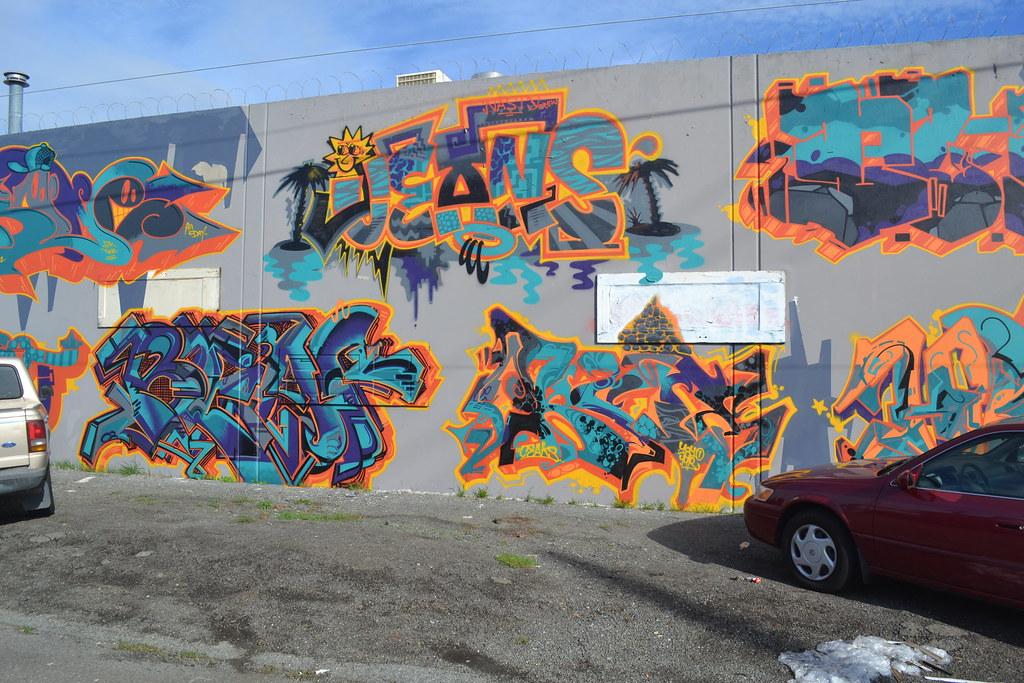 JEANS, NASTY, BEAF, OKSY, Street Art, Graffiti, Oakland,