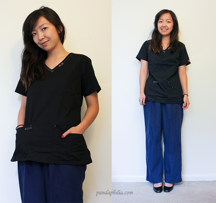 dickies scrub top review